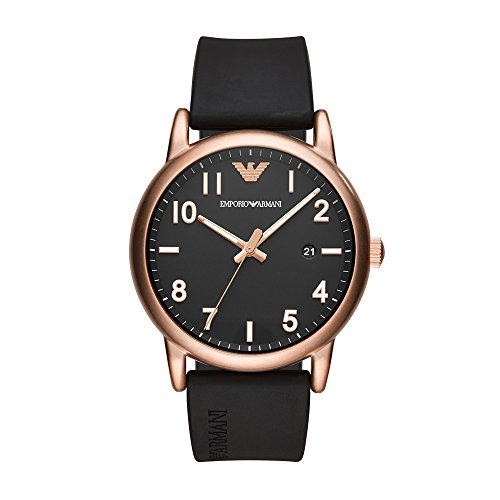 Emporio Armani Men's 'Sport' Quartz Stainless Steel and Rubber Casual Watch, Color:Black (Model: AR11097) ()