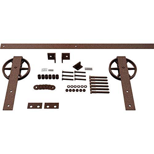 Goldberg Brothers Inc. GB600144HWCV Premium Wagon Wheel Strap Set Barn Door Hardware, 48 Inch Track Length (for 1 3/4…