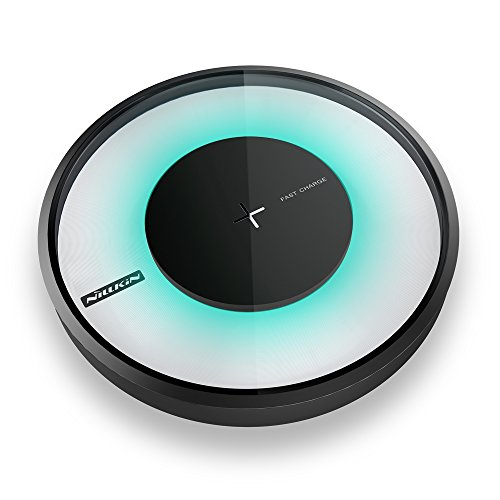 Qi Fast Wireless Charger Charging Pad Stand for Apple iPhone X, iPhone 8/8 Plus, Samsung Galaxy Note 8/S8/S8 Plus/S7/S7 Edge/Note 5/S6 Edge Plus, Nexus 7/6/5 and All Qi-Enabled Devices [Smart Light]