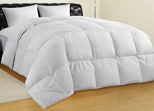 Allrange Hypoallergenic Feather and Down Comforter Duvet, Down Proof Cotton Fabric, Medium Warmth, Year Round, Machine Washable, Easy Care, Durable,Twin Size (Quilt Sag)