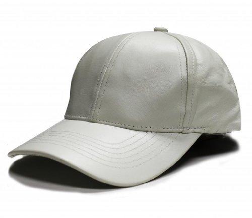 City Hunter Lc100 Plain Leather Cap (White) (City White Leather)