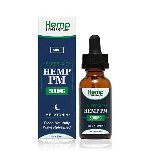 - Organic Hemp Oil for Sleep (500mg) Mint - Ultra-Pure Natural Hemp Oil Tincture Drops, Sleep Aid with 150mg Melatonin - Omega 3,6 - Reduce Stress, Anti Anxiety, Anti Inflammatory, Pain Relief - 1 Fl Oz