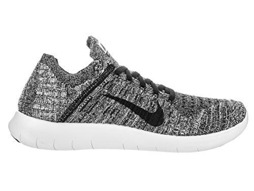 Nike Wmns Free Rn Flyknit, Zapatillas de Running Para Mujer Blanco (White / Black)