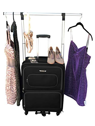 The Dance Angel Suitcase Black Size Medium (Rolling Dance Bag With Costume Rack) from The Dance Angel