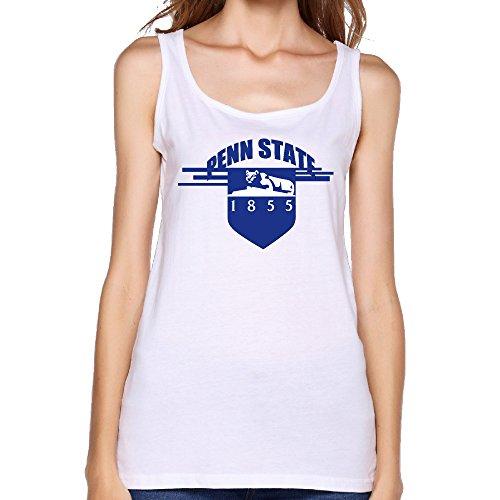 - VOLTE Pennsylvania State University Womens Yoga Vest Round Collar White Tank Top