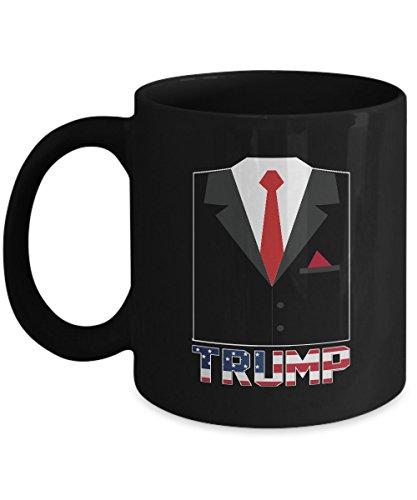 Shirt White Donald Trump Halloween Funny Coffee Mug 11oz Black