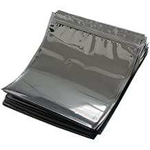 LJY 50 Pieces Antistatic Resealable Large Size Bags for Motherboard HDD and Electronic Device, 21cm x 24cm / 8.3in x 9.5in