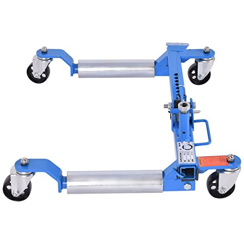 Goplus Wheel Dolly Car Skates Vehicle Positioning Hydraulic Tire Jack, 1250 lb (Blue) by Goplus (Image #2)