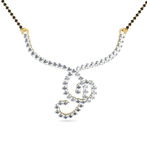 Or jaune 18 K 1,5 carat au total White-diamond (IJ | SI) Mangalsutra