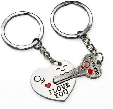 Couple Arrow Heart I LOVE YOU Keychain Lovers Keyring Valentine/'s Day Present