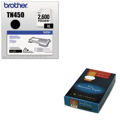 KITBRTTN450SOU403E - Value Kit - Southworth 25% Cotton Business Paper (SOU403E) and Brother TN450 TN-450 High-Yield Toner (BRTTN450) by Southworth