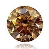 RINGJEWEL 1.04 ct 6.76 MM VS2 Round Cut Real Loose Moissanite Use 4 Pendant/Ring Brown Color