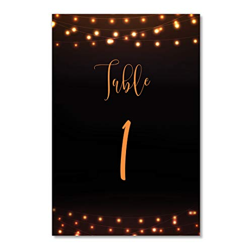 Halloween Table Numbers Pack of 25 Reserved Seating