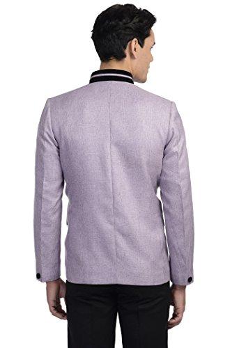 Wintage - Blazer - Uni - Col Tunisien - Manches Longues - Homme -  Violet - taille 10
