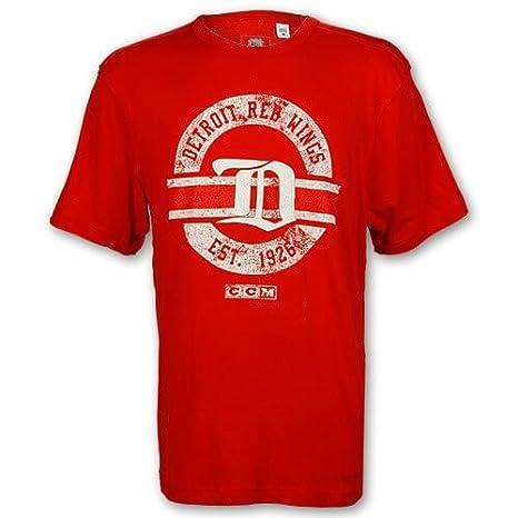 Detroit Red Wings Gothic D Applique Circle Logo T Shirt Medium
