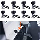 jeep bolts for hard tops - Bestong Jeep jk Hardtop Bolts Quick Removal Fastener Thumb Screw + Nut + Washer + Tie-Down D-Rings for 1995-2017 Jeep Wrangler JK YJ TJ JKU Sports/Sahara/Freedom/Rubicon X (8-Pack Screws + D-Ring)
