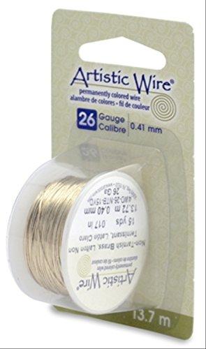 - Artistic Wire Beadalon, 26 Gauge, Non-Tarnish Brass, 15 yd (13.7 m) Craft Wire, NT