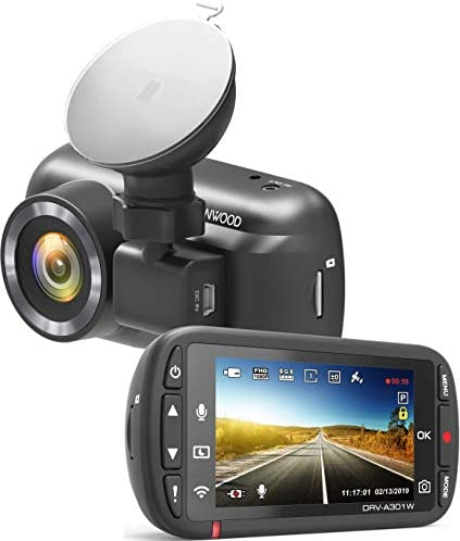 Kenwood DRV-A301W 2.7 HD Dashcam with Wi-Fi