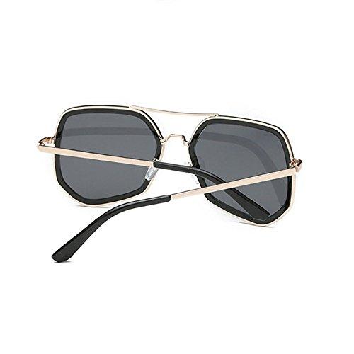 Aoligei Femmes et lunettes de soleil polygonale personnalité Chao Mans rue lunettes de soleil lunettes en métal ZS1IIP1kn