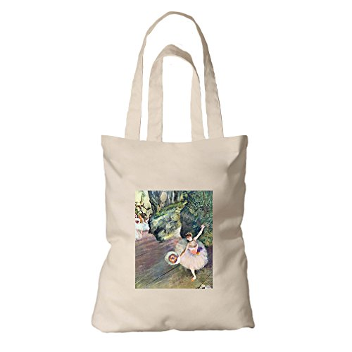 Dancer Bouquet Flowers Star Ballet (Degas) Organic Cotton Canvas Tote Bag (Degas Ballet Bag)