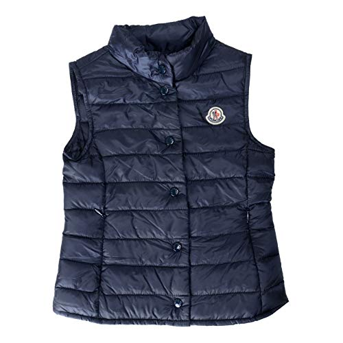 Moncler Kid's Liane Blue Down Light Sleeveless Parka Jacket Vest Moncler Sz 5A ()