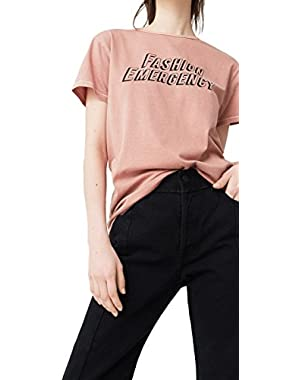 Mango Women's Message Cotton T-Shirt