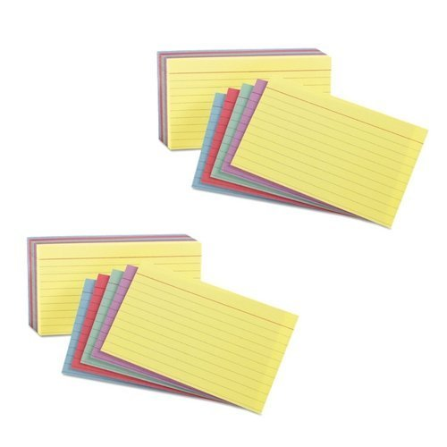 - Oxford 3x5 Rainbow Index cards (2 Pack)