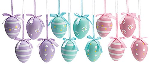 Easter Egg Ornaments 3 Assorted Designs Holiday Gift Home De