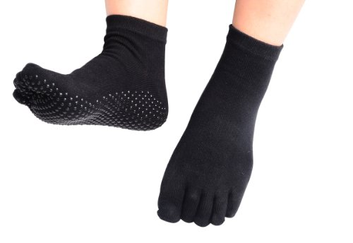 CompressionZ Yoga Socks Non Slip Full Toe - Women & Men Pilates, Barre, Strong Grip