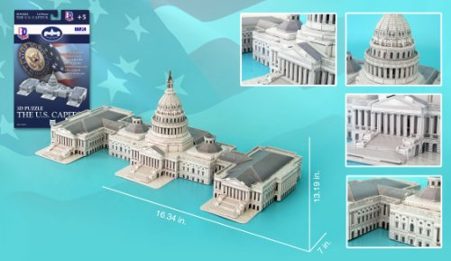 US Capitol Building 3D Puzzle, 132 Pieces
