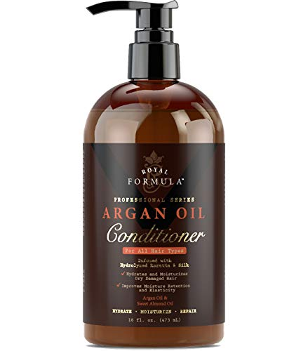 Royal Formula - Moroccan Argan Oil Hair Conditioner [Sulfate Free] Infused with KERATIN - Treatment for Dry Damaged, Color Treated, Frizzy & Curly Hair - Best for All Hair Types (16 Fl. Oz)