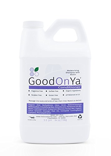 Moisturizing Conditioner with Biotin by GoodOnYa (64 oz) Sulfate Fragrance Paraben Free - Rosacea, Eczema, Psoriasis, Seborrhea Dermatitis, Dandruff, Itchy Scalp Dry Scalp, Natural Organic Ingredients