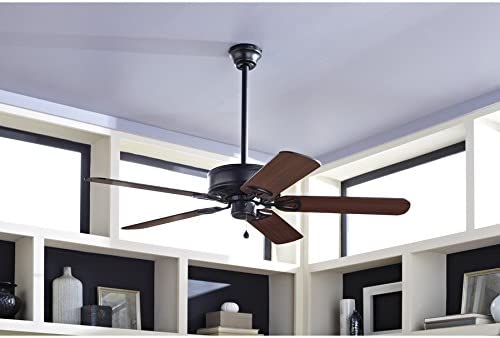Harbor Breeze 52″ Classic Style Matte Black Ceiling Fan