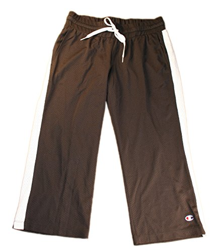 (Champion® Must-Have Women's Mesh Capris, XS-Black/White)