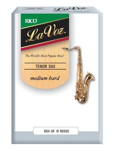 La Voz Tenor Sax Reeds, Strength Medium-Hard, 10-pack