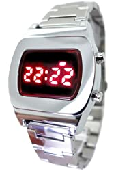 LED Watch Tx8 Multifunction Red Display Digital 70s Retro Chrome Watch- Limited Edition - Collectors Model