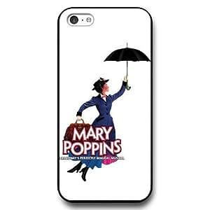 Customized Disney Cartoon Mary Poppins Black Hard Plastic Plastic iphone 6 4.7 inch Case