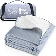 EverSnug Large Waterproof Outdoor Blanket - Extra Thick Premium Quilted Fleece, Waterproof & Windproof, Gr
