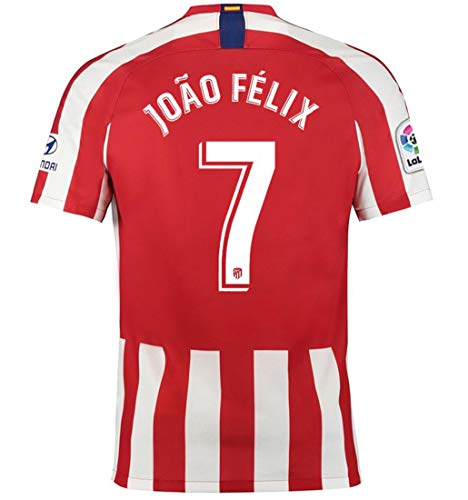 Aizer Do Atletico Madrid New 2019/2020 Season #7 Felix Home Mens Soccer Jersey Color Red/White Size M (Mens Real Madrid Soccer Jersey)