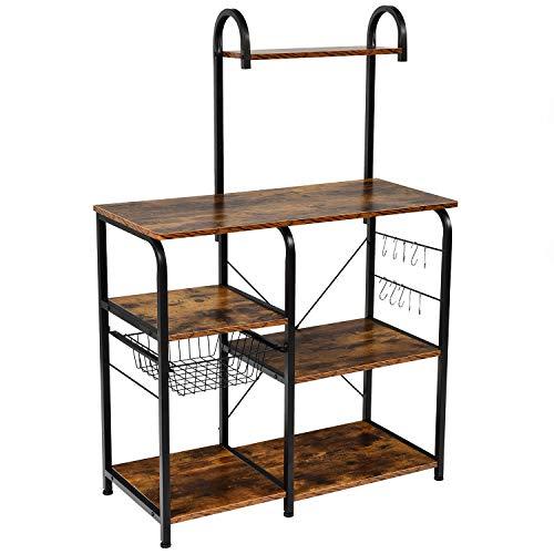 WEIYUDANG Kitchen Baker's Rack Utility Storage Shelf 35.5