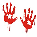 car accesories for girl - Boddenlyn Scary Bloody Hand Car Stickers Reflective Car Decals Light Bumper Body Sticker Decal for Car Decoration 6.2''x3.5''(Red)