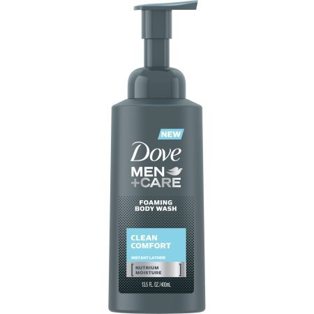 Foaming Body Wash - Dove Men+Care Foaming Body Wash instantly cleans Clean Comfort 14.oz (Pack of 2)
