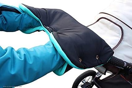 ByBoom® - Handwärmer, Muff mit Fleece Innenseite, Universalgröße für Kinderwagen, Buggy, Radanhänger, Farbe:Schwarz ByBoom® - Handwärmer Radanhänger ByBUM