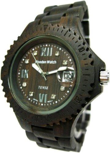Tense Wood Watch Dark Sandalwood Adventure Compass Ladies Roman L4100D RNDF