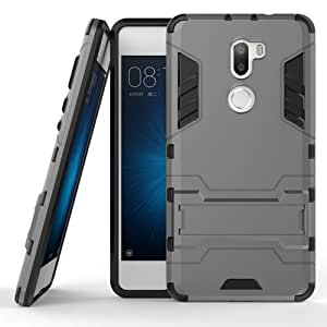Armor Shockproof Kickstand TPU Hybrid Back Case Cover For Xiaomi 5S Plus -Grey