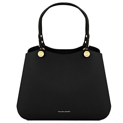 Tuscany Leather Anna Borsa a mano in pelle - TL141684 (Nero) nero