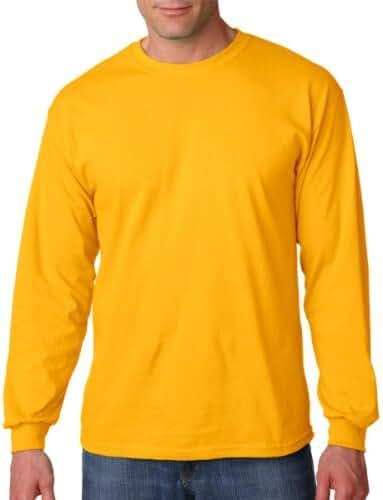 Gildan Men's Preshrunk Taped Neck Heavy Rib Knit T-Shirt