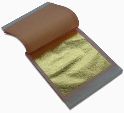 """25 sheets L.A 23 K Genuine Gold LOOSE Leaf 3 1//8/"""" x 3 1//8/"""" Gold Leaf"""