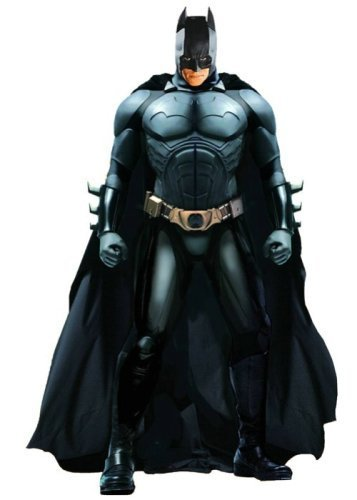 DC Direct Deluxe 13 Inch Collectors Action Figure Christian Bale as Batman Begins ()