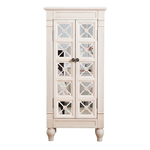 - Hives & Honey Alana Jewelry Armoire, Product Dimensions 41″ H x 19″ W x 11.75″ D, White